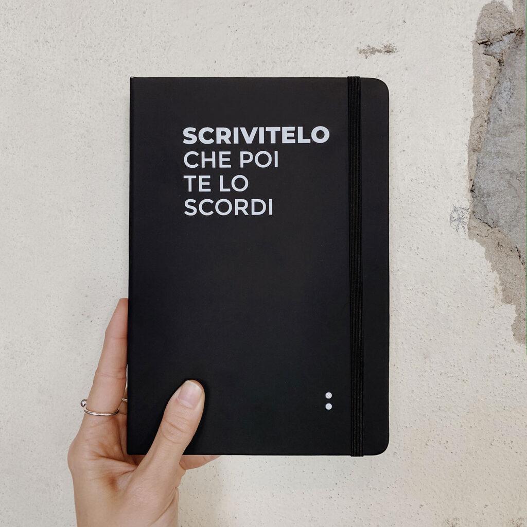 Scrivitelo, taccuino - Prodotti, Progetto Undici