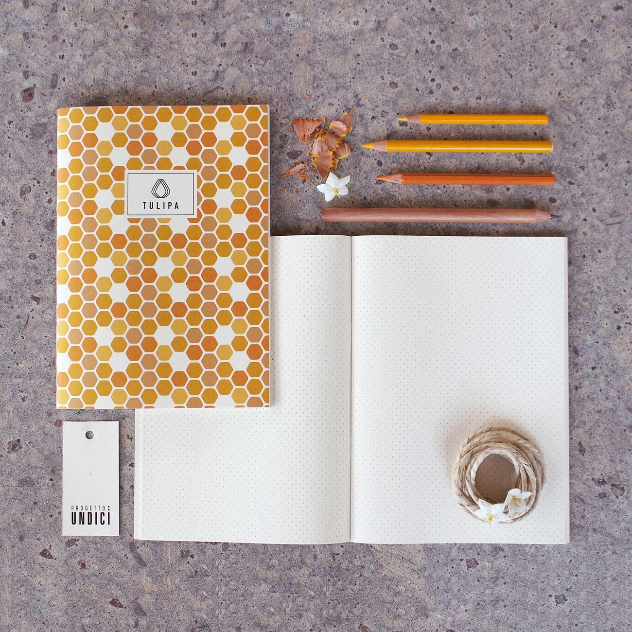 Tulipa, quaderni- Prodotti, Progetto Undici