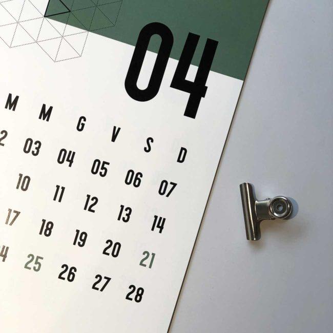 2019 Calendario - Prodotti, Progetto Undici